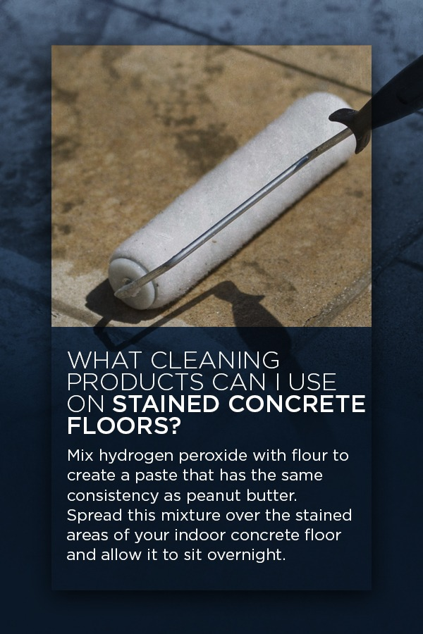 Cleaning Products You Can Use to Clean Stained Concrete Floors